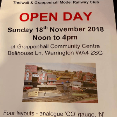 OPEN DAY 181118 at the Thelwall and Grappenhall Model Railway Club Warrington