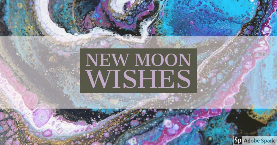 New Moon Wishes Fluid Paint Night