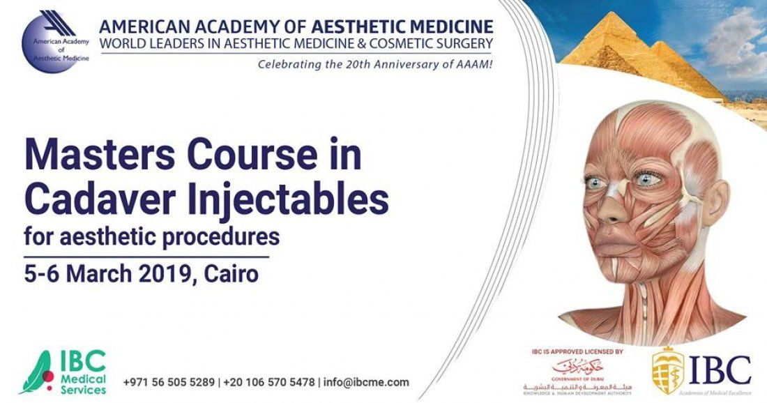 Masters Course in Cadaver Injectables   for Aesthetic Procedures