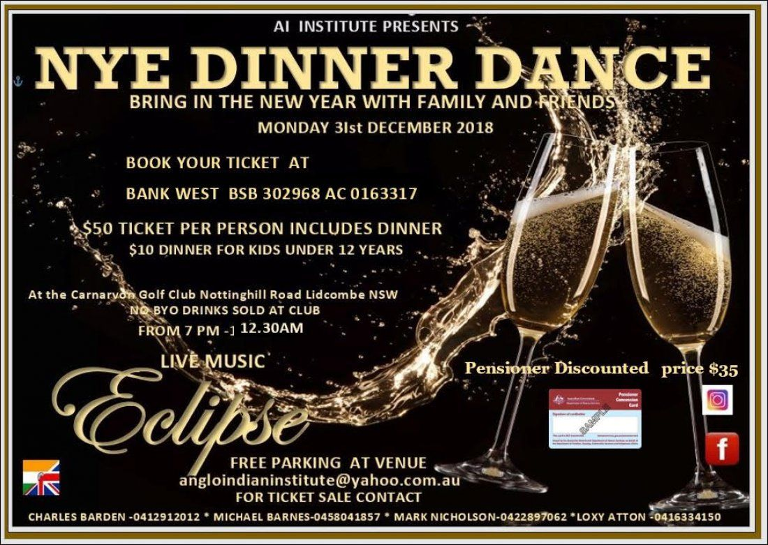 Anglo-Indian Institute New Year Eve Dance