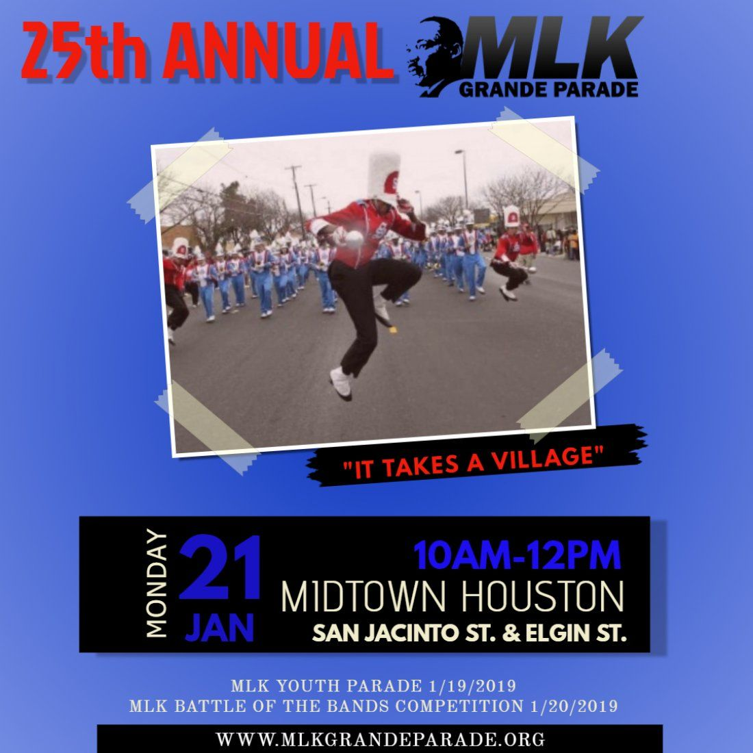 25th Annual MLK Grande Parade Midtown Housyton-2019
