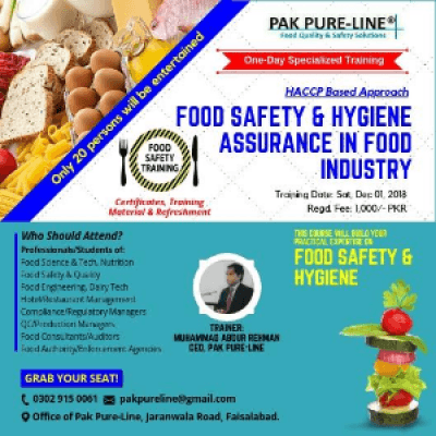 Food Safety and Hygiene Assurance in Food Industry at Office