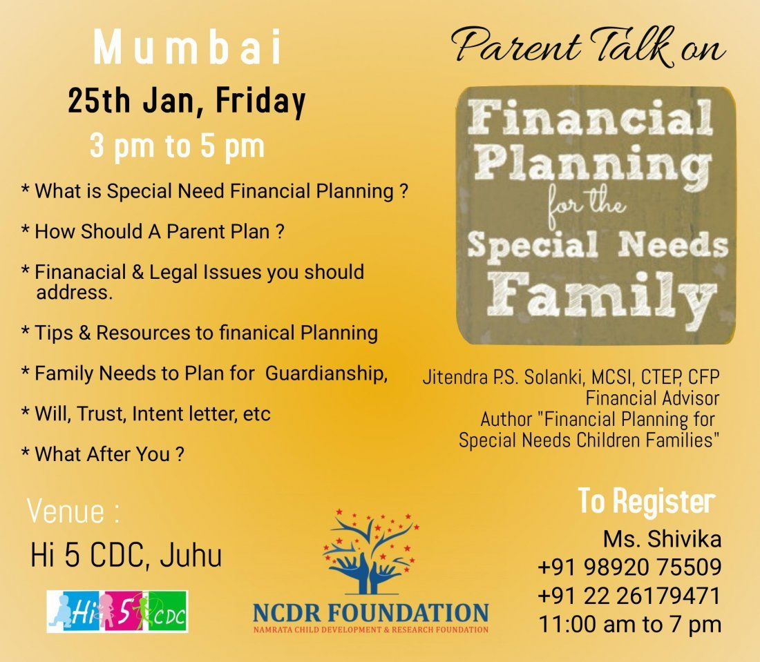 Financial Planning for Special Needs Family