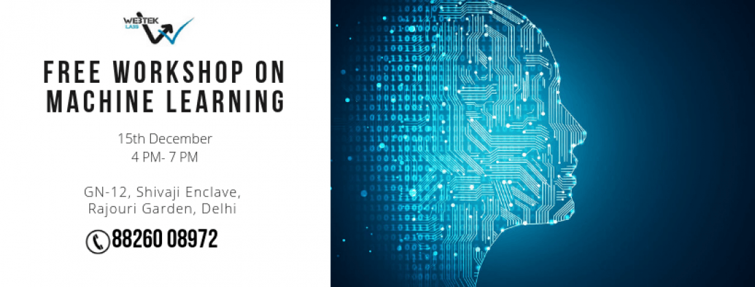 A Free Workshop on Machine Learning in New Delhi