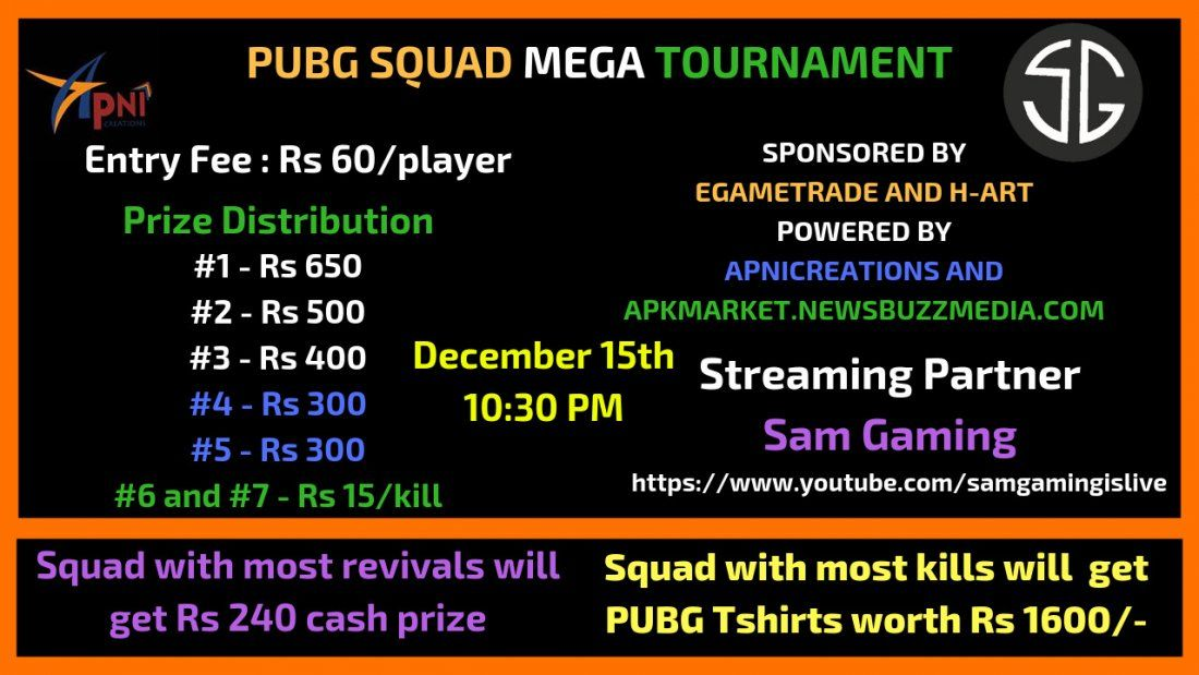 PUBG SQUAD MEGA TOURNAMENT