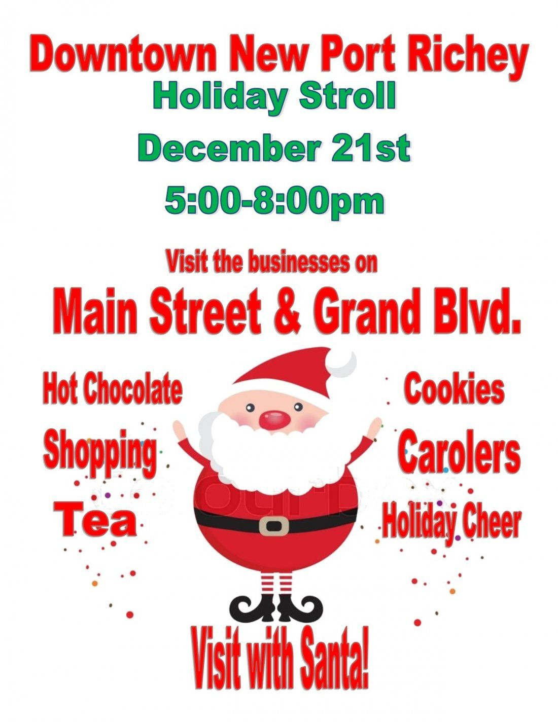 Downtown New Port Richey Holiday Stroll
