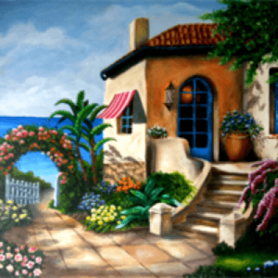 Home By The Sea Canvas Painting