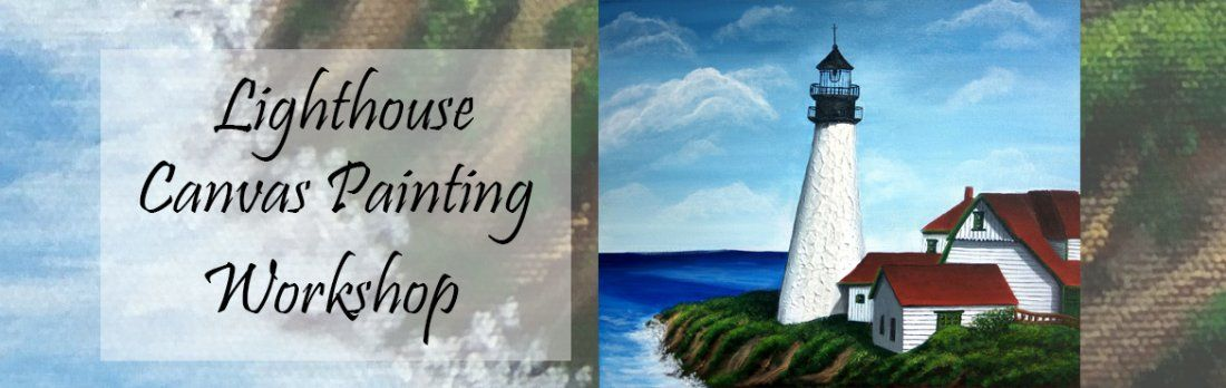 Textured Lighthouse Canvas Painting