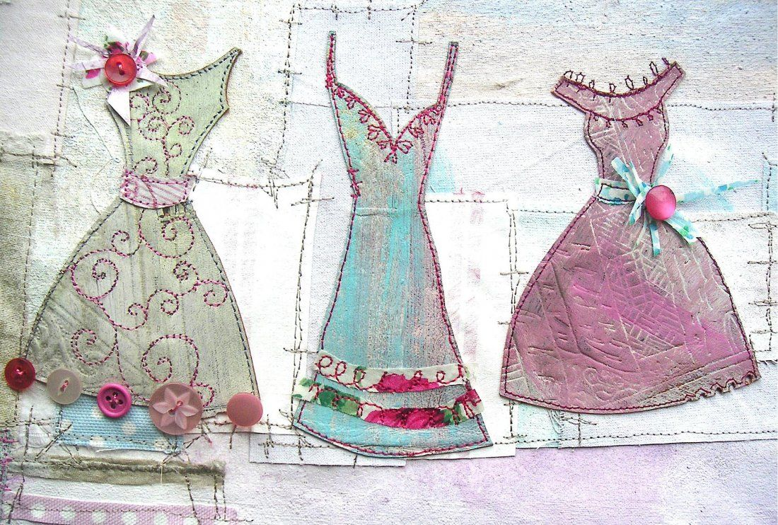Mixed Media Embroidered Hanging Weekend with Artist Priscilla Edwards