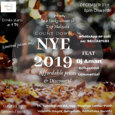 Big NYE 2019 Party In Heart Of City