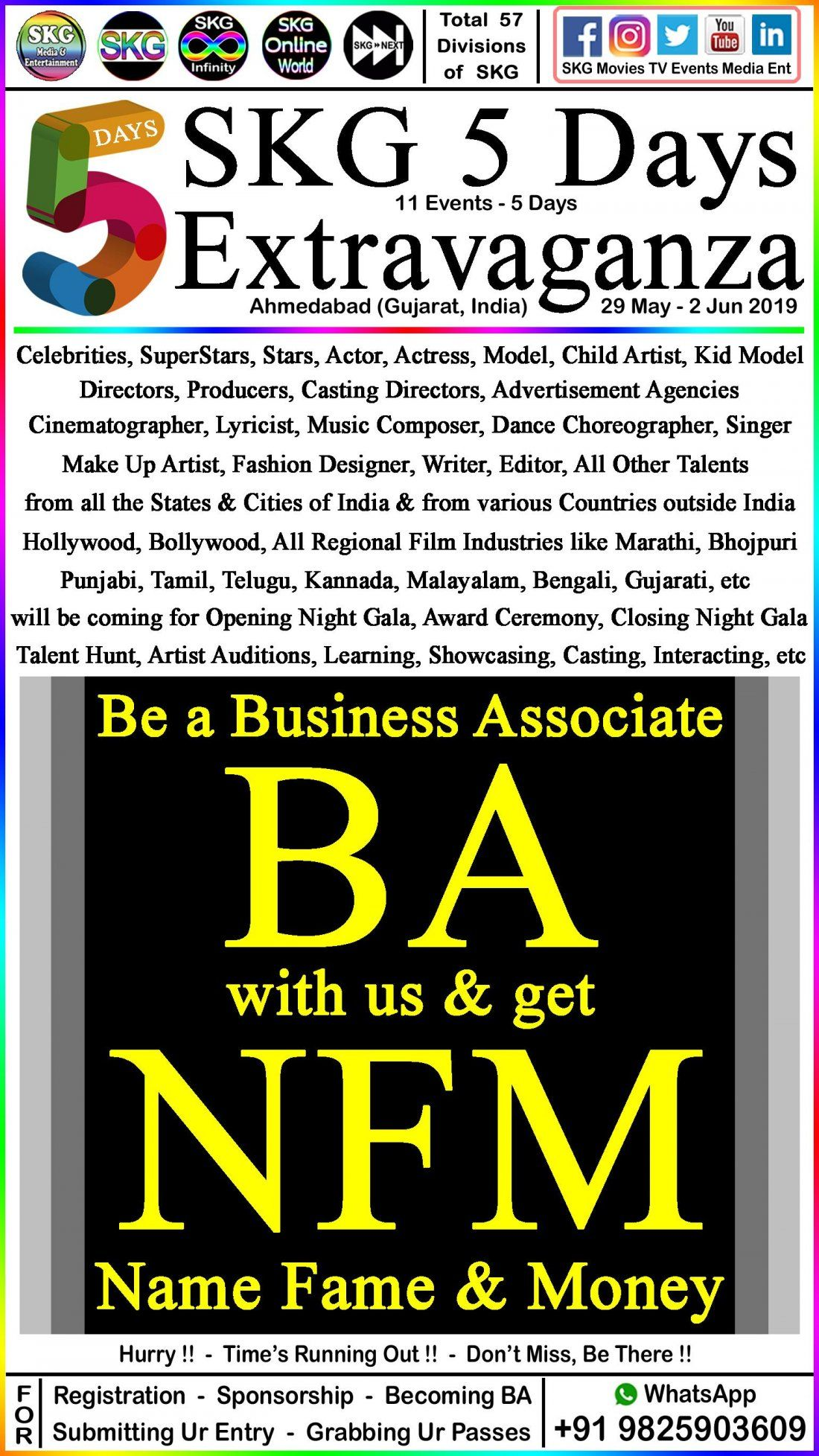 Become a BA (Business Associate) with us & get NFM (Name Fame & Money)