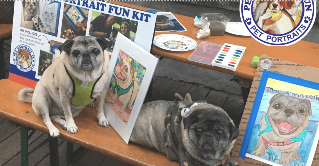 Paint a Pet Dog Portrait-Sunday Funday- DOG PARTY NYC