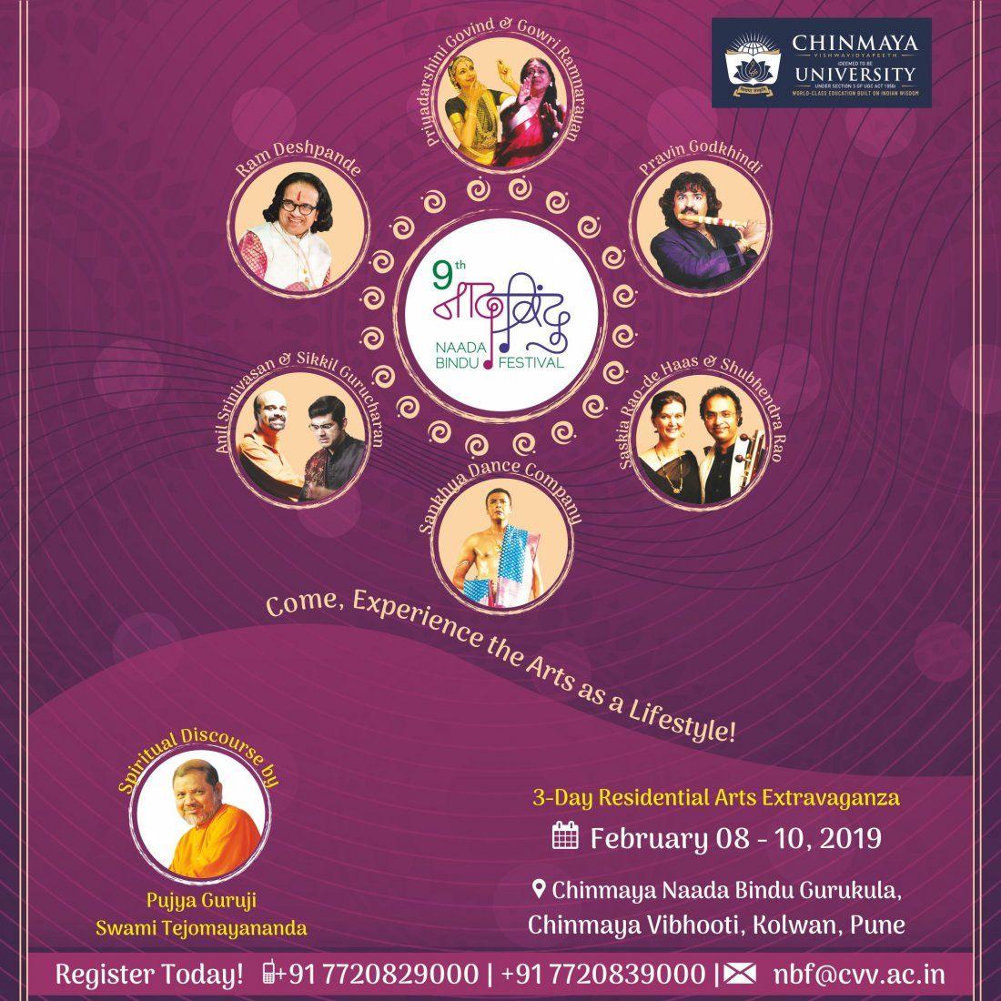 9th Naada Bindu Festival - Chinmaya Vishwavidyapeeth