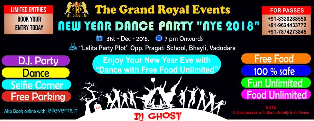 31st December Dance Party NYE 2018 Dance with Dinner
