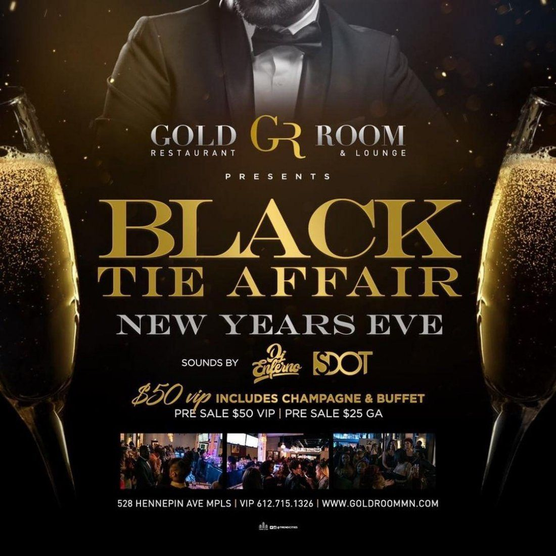 Black Tie Affair: New Years Eve Celebration at Goldroom ...