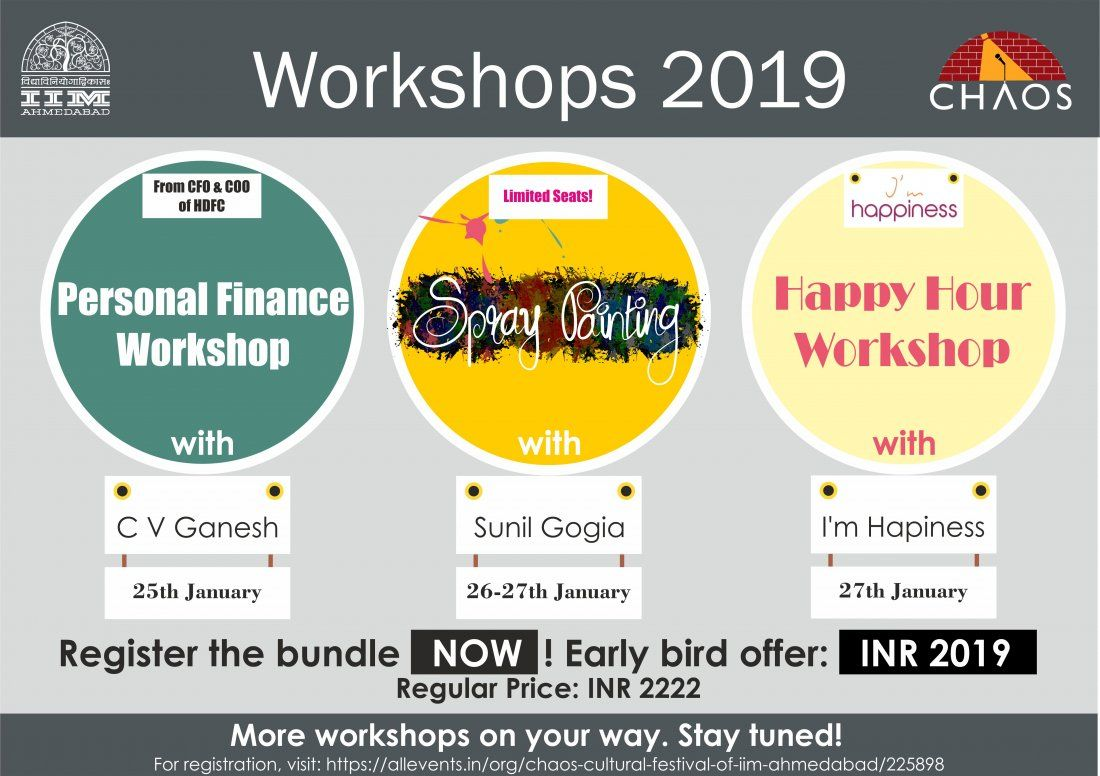 Personal Finance  Spray Painting  Happy Hour workshops (Bundle)