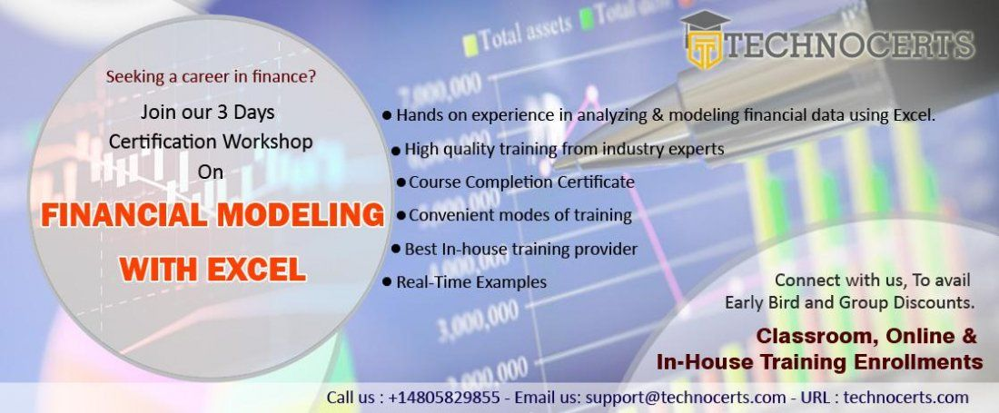financial modeling with excel training and certification technocerts
