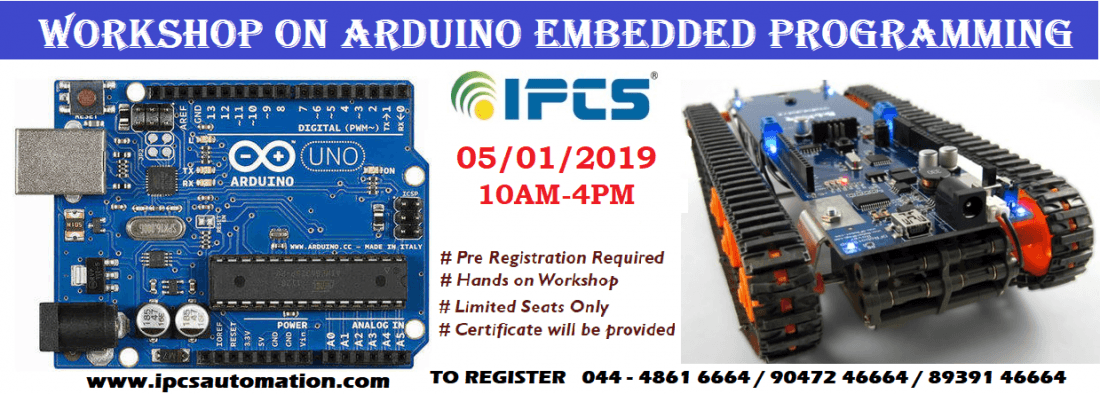 Embedded Arduino Workshop | chennai