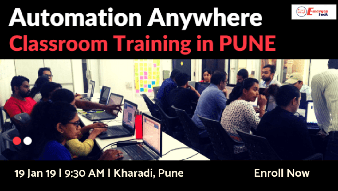 RPA Automation Anywhere Classroom Training  19 January 2019  Kharadi PUNE