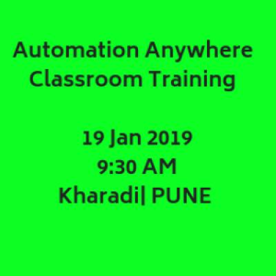 RPA Automation Anywhere Classroom Training  19 January 2019  Kharadi PUNE