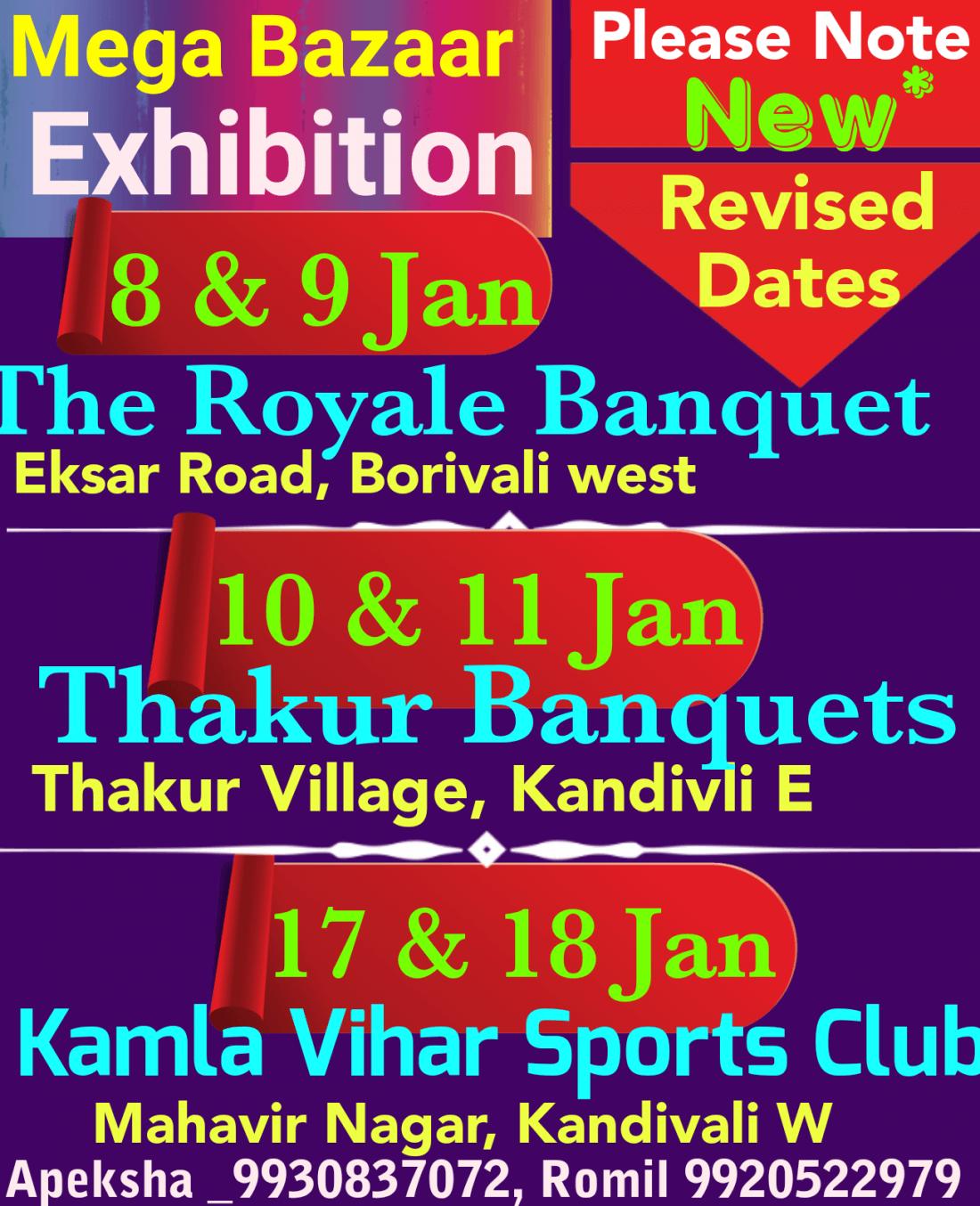 Mega Bazaar Winter Fair 2019 Exhibition of Fashion Ethnic WearJewelry & more 60 popup stalls