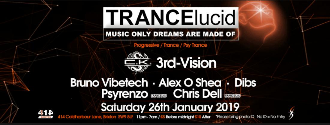 TRANCElucid - January 2019 Event at Club 414, London