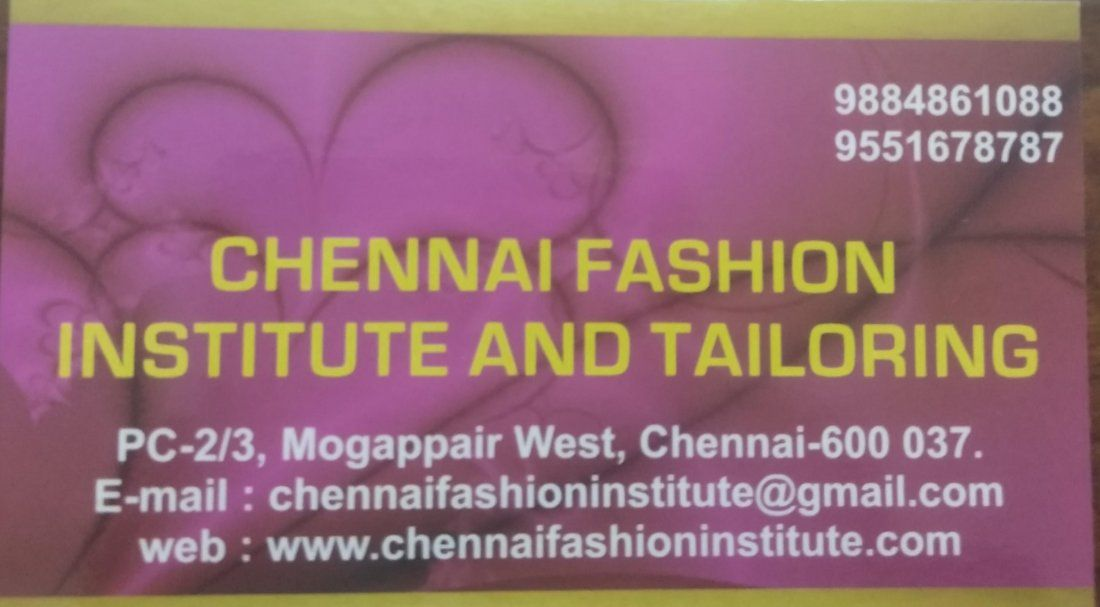 Fashion designing diploma Courses in Chennai Mogappair West by Tamil Nadu Open University TNOU