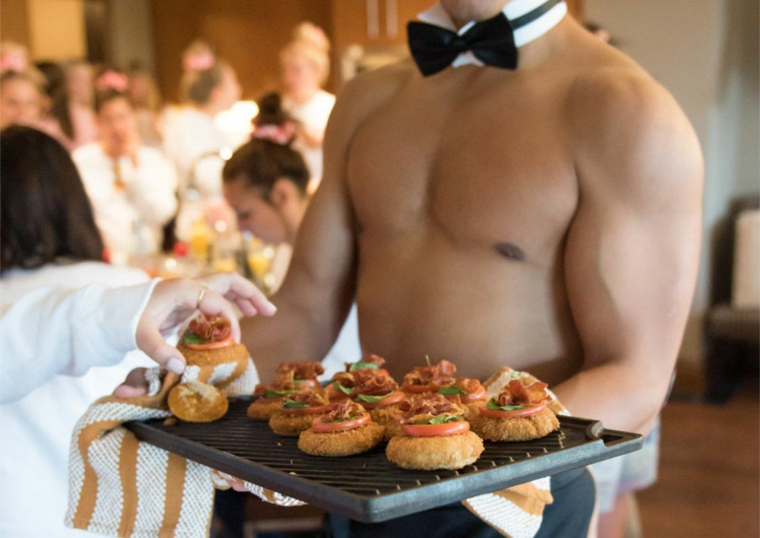 Butler in the buff - Canape evening