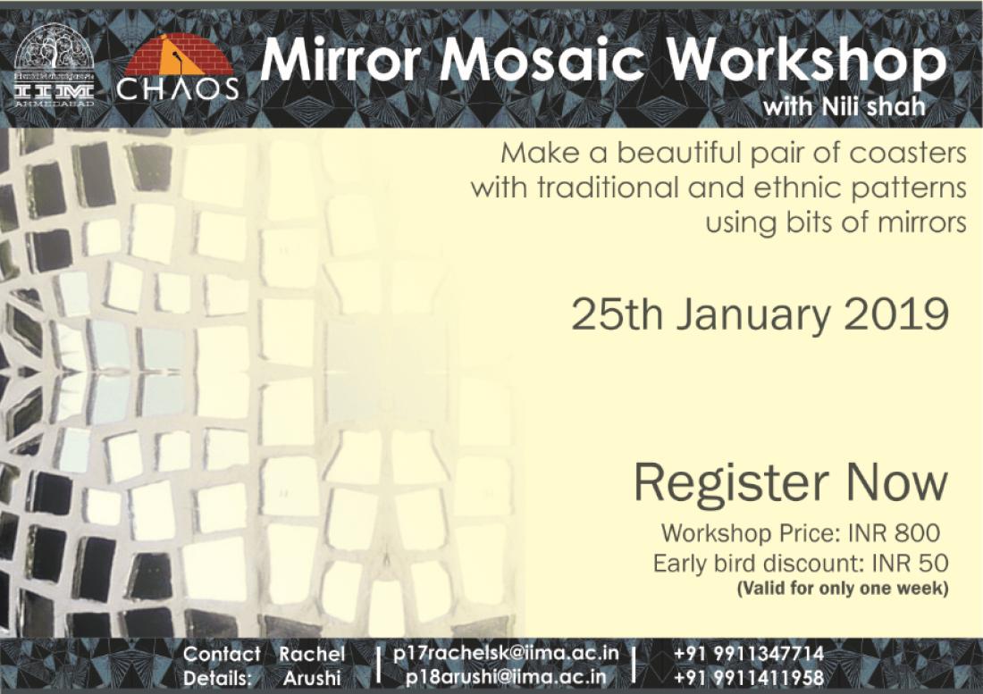 Mirror Mosaic workshop