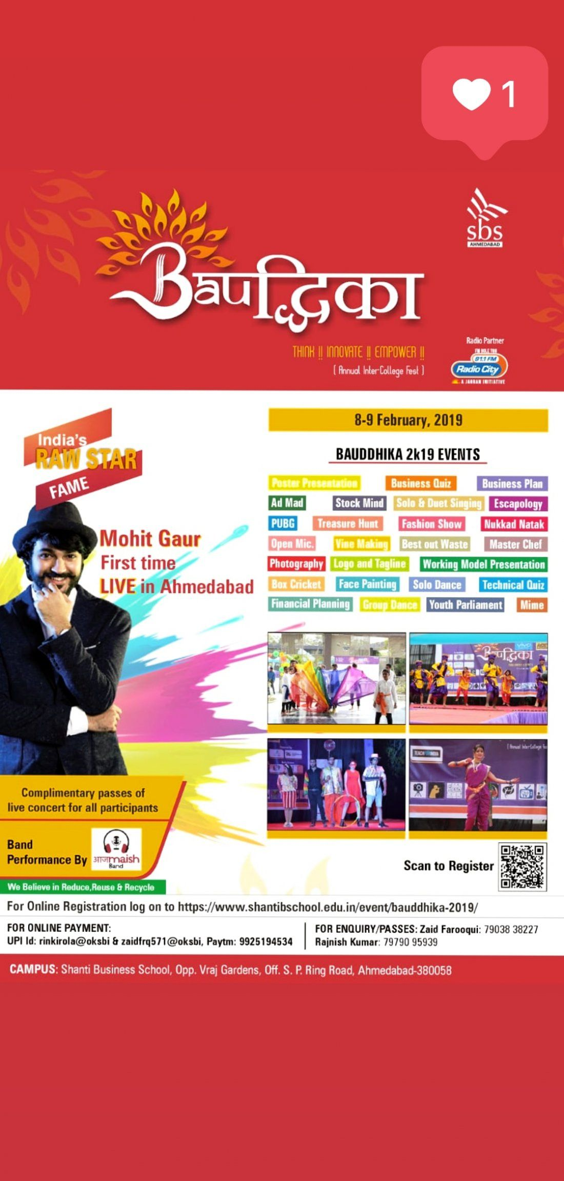 Live in Concert of Mohit Gaur in Bauddhika 2019