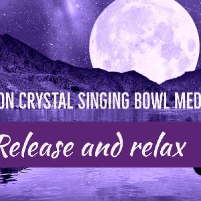 Salt Room Full Moon Crystal Singing Bowl Meditation
