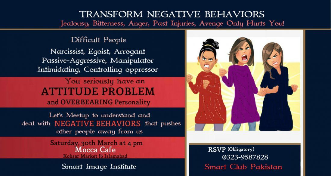 Social Meetup to Learn to Deal with Negative Behaviors
