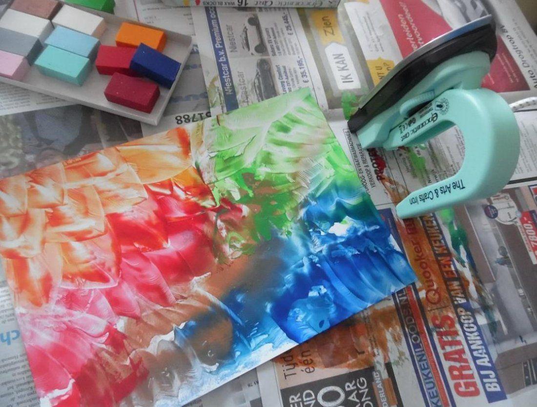 Encoustig kleuren