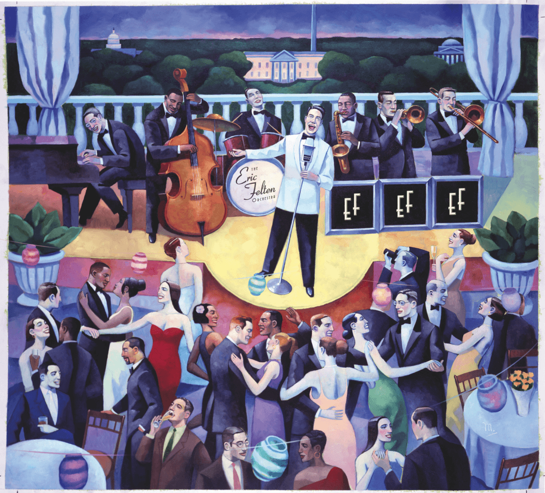 Swing Dance - Red Dress Ball with the Eric Felten Jazz Orchestra - Feb 9 Glen Echo Park