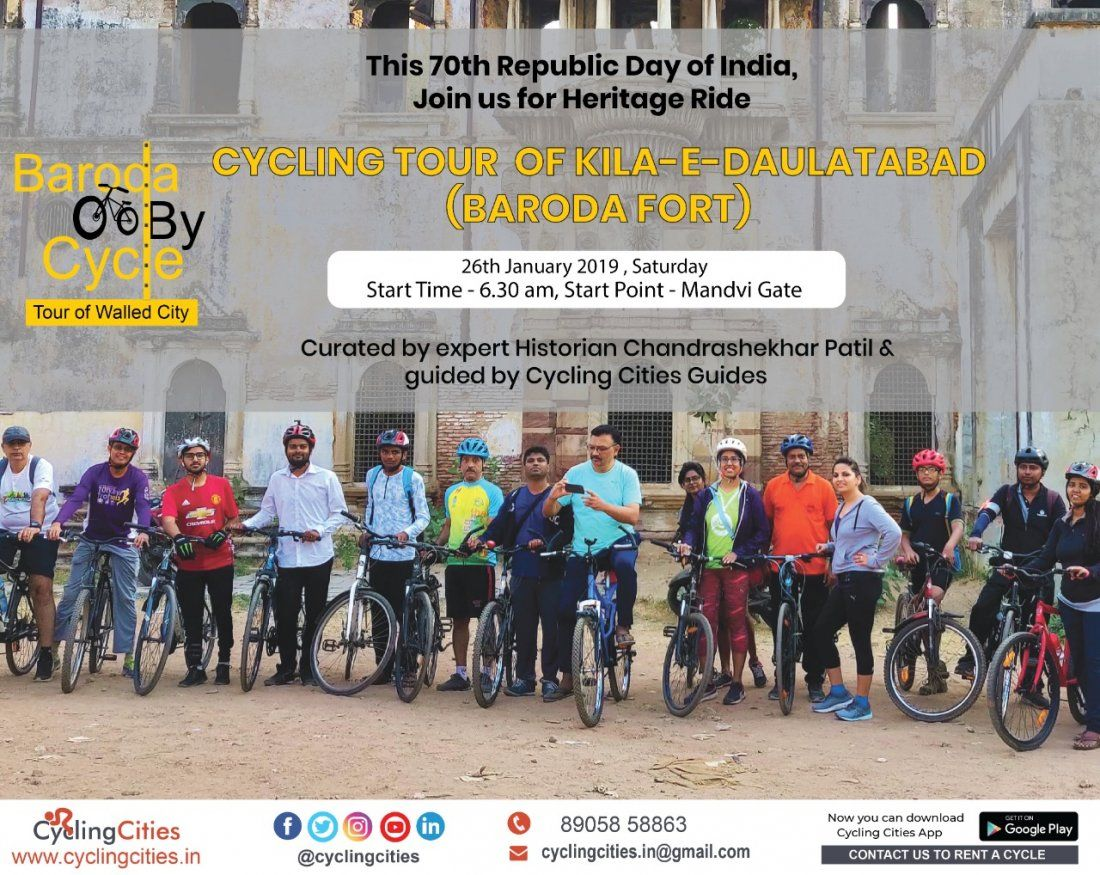 Baroda By Cycle  Republic Day Heritage Ride