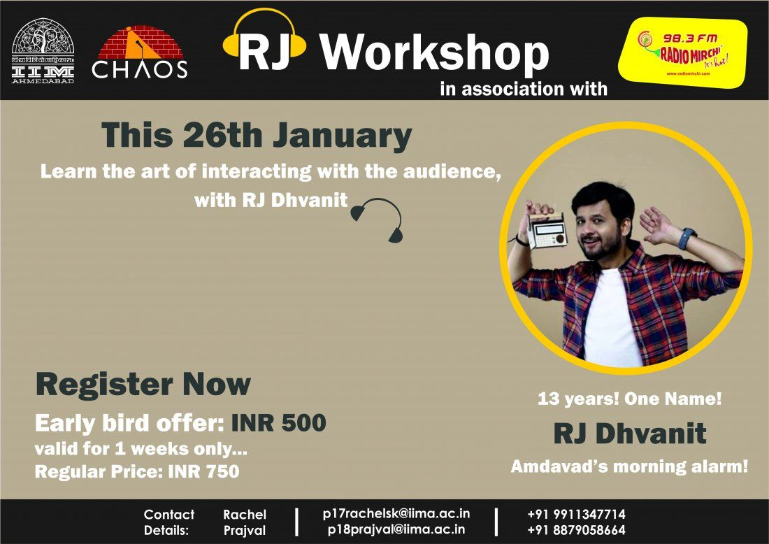 RJ Workshop by Radio Mirchi