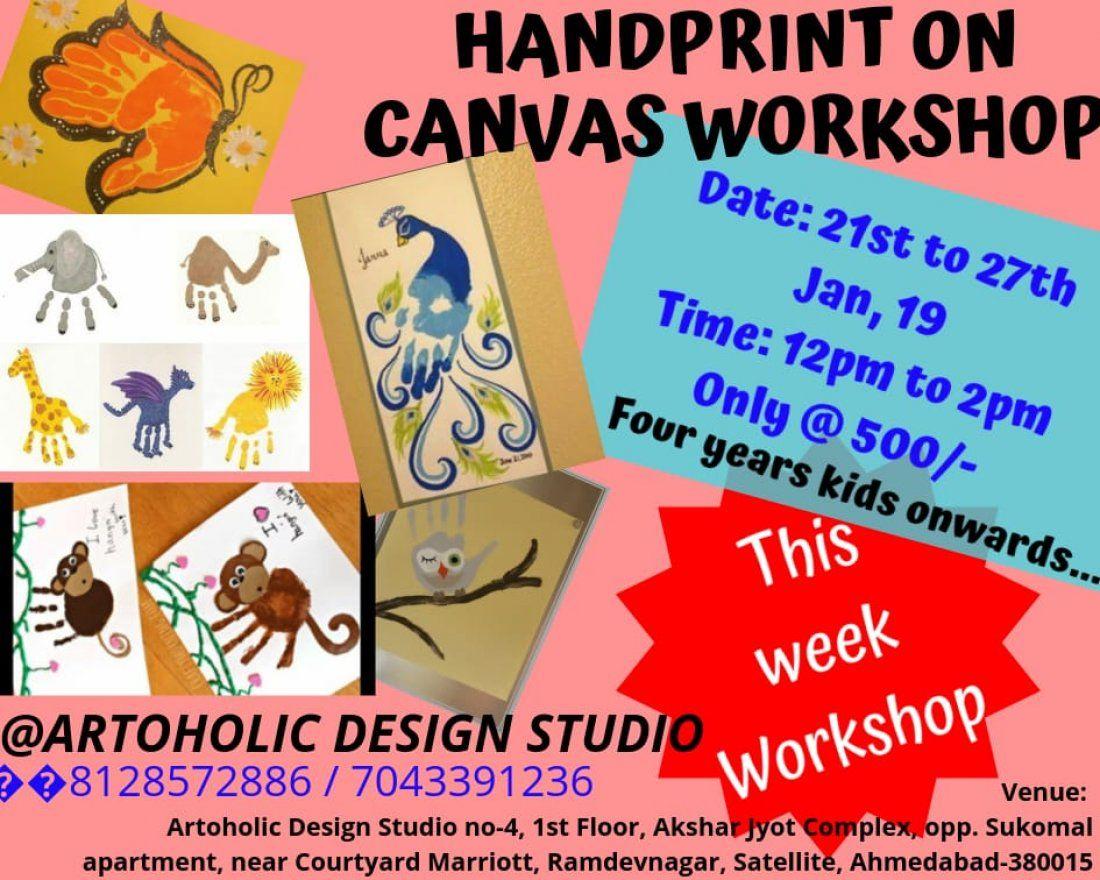 Handprint on Canvas Workshop
