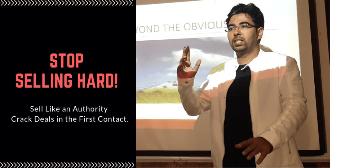 Sales Training in Bangalore  Authoritative Selling by Amit Sharma