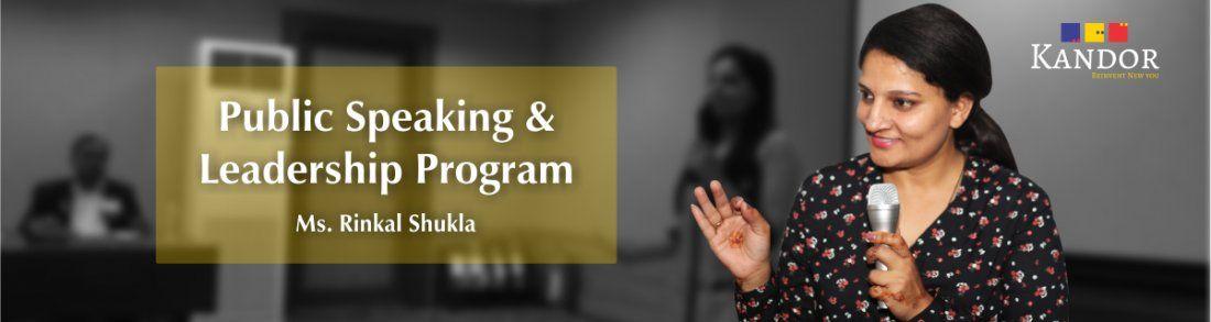 PUBLIC SPEAKING AND LEADERSHIP PROGRAM