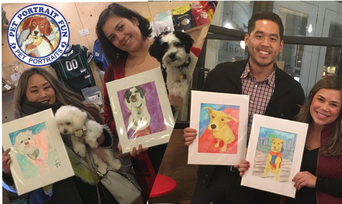 Paint a Pet Dog Portrait Party-Friday Yappy Hour-Boris & Horton -March 1