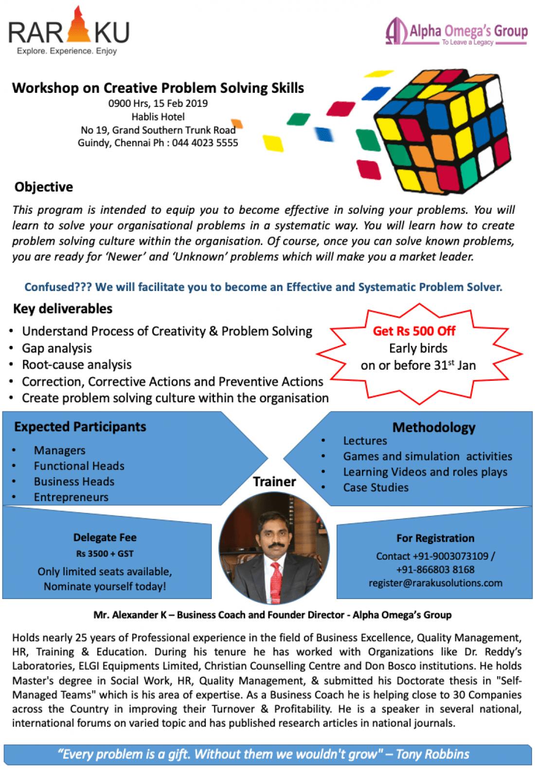 Workshop on Problem Solving