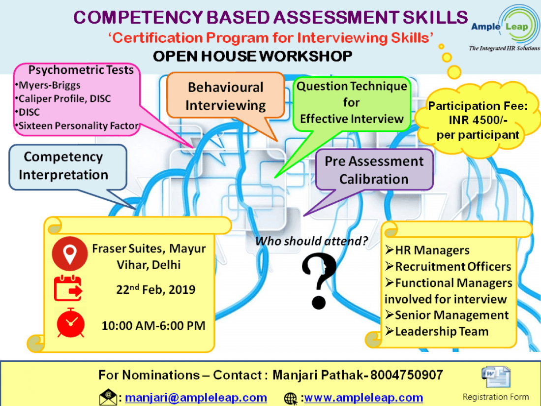 Open House on Competency Based Assessment Skills-Certification Program for Interviewing Skills