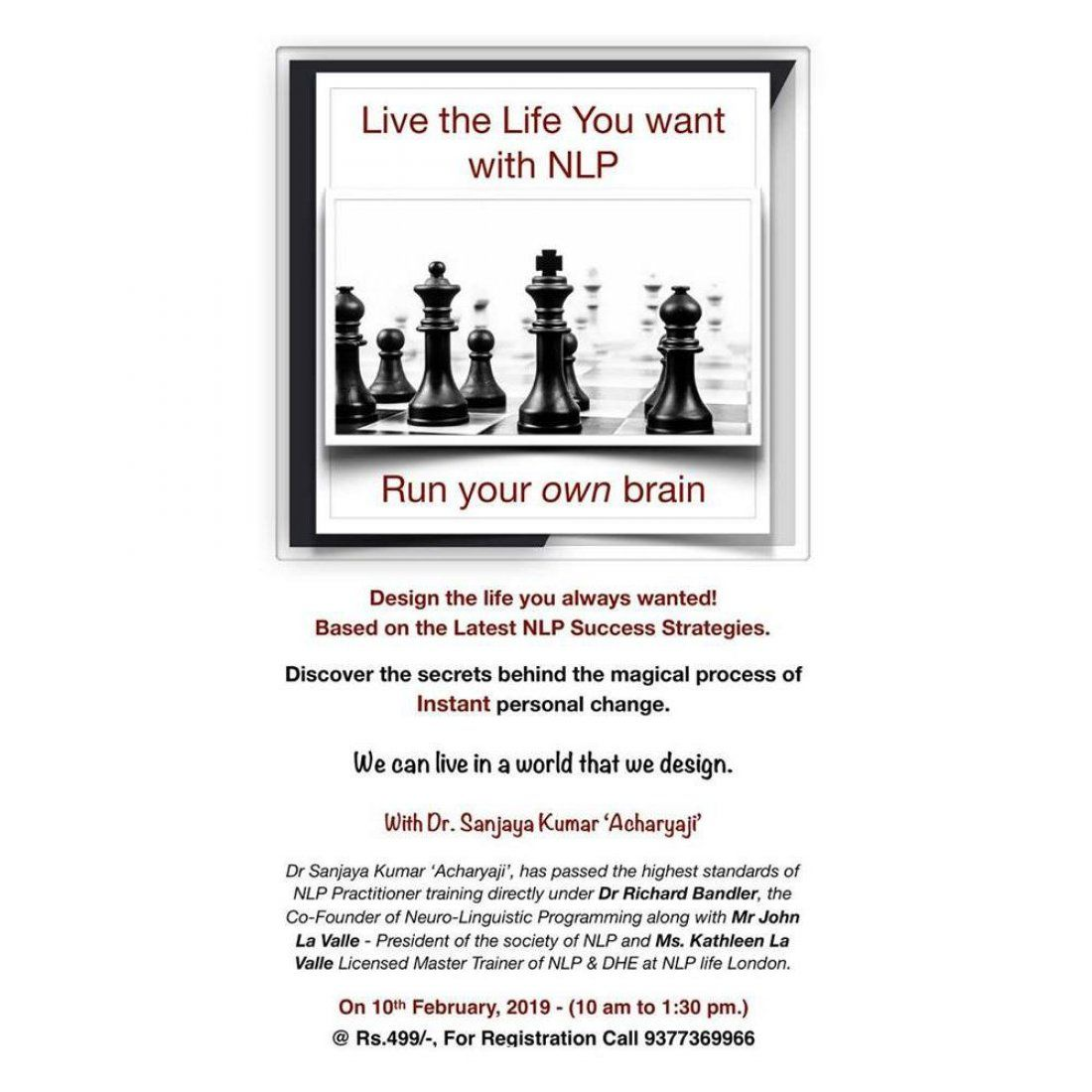 Live the Life You want with NLP