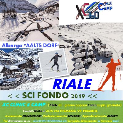 XC SKI CLINC & CAMP (SCI FONDO) 2019 &gtFEBBRAIO< RIALEVal Formazza (VB) Piemonte
