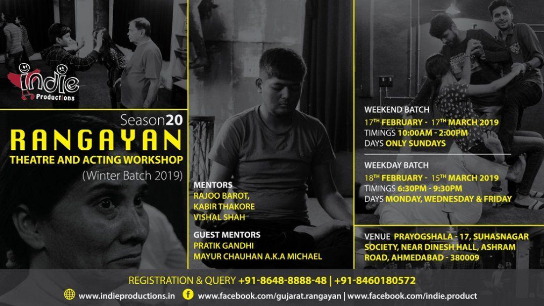 Rangayan - Theatre & Acting Workshop (Season 20)