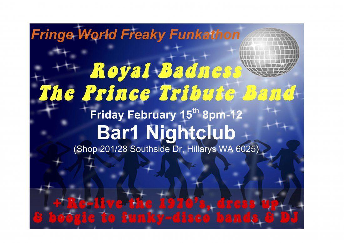 Royal Badness - The Prince Tribute Band - FRINGE WORLD FREAKY FUNKATHON