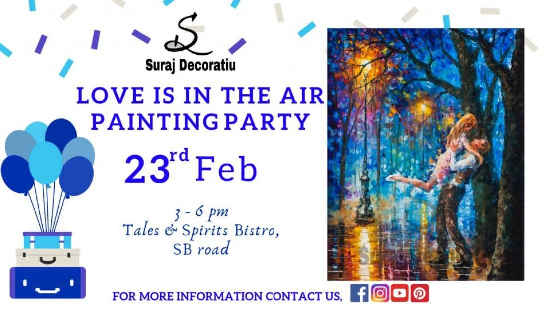 Love is in the Air Painting Party