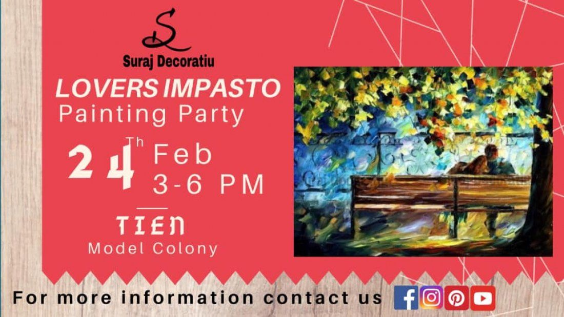 Lovers Impasto Painting Party