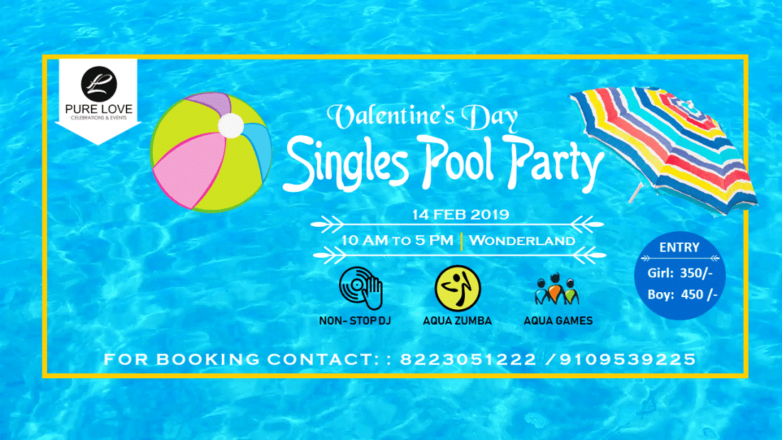 Valentines Day Singles Pool Party