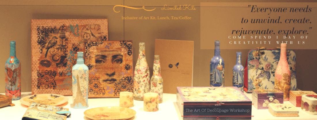 The Art Of Decoupage Mumbai Workshop By Pooja D Gupta April 2019